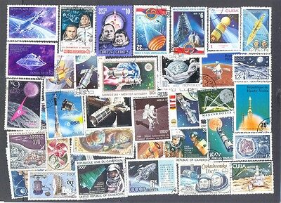Space - 1000 all different stamp collection-mainly large-medium-
