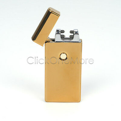 Lighter Electric Rechargeable Double Arc USB Windproof Flameless Plasma Torch
