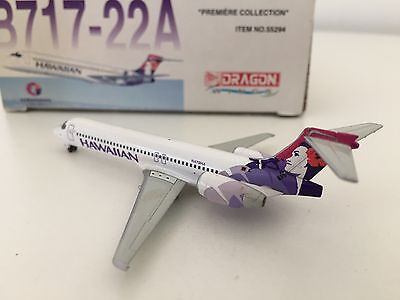 HAWAIIAN Airlines Diecast DRAGON WINGS Boeing B717 Boeing Jet Plane 1:400 VGC