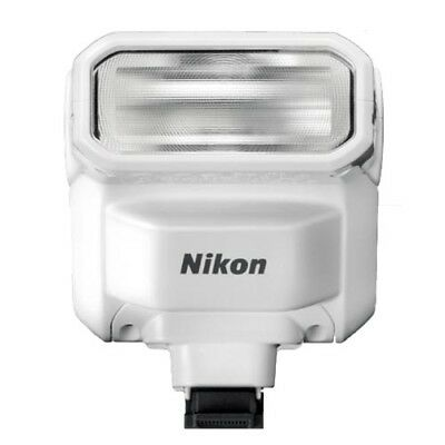 Nikon SB-N7 Speedlight Flash for Nikon 1 (White) with GEN NIKON WARR