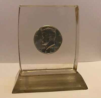 1964 Half Dollar Coin In A Plastic Stand