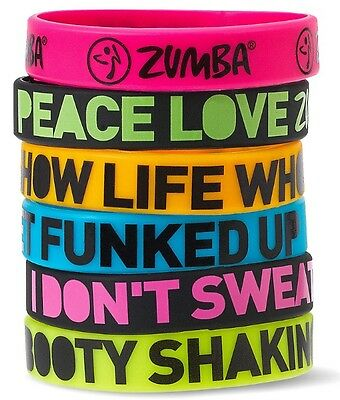 Zumba Express Yourself Silicone Bracelets - 6 Pack - Free Shipping