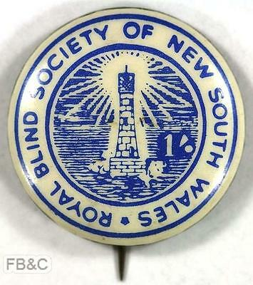 Vintage Royal Blind Society of NSW 1/- Pin Badge - 25mm
