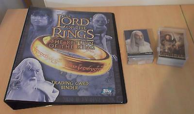 Lord Rings Return of King Topps Trading Card Binder + SEALED 1-90 + 91-162 Cards