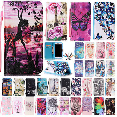 Flip Magnetic Leather Wallet Card Holder Stand Case Cover For iPhone 6s 7 Plus