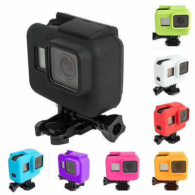 8 Colors Camera Accessories Soft Silicone Frame Case for Gopro Go pro Hero 5 New