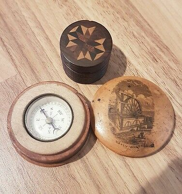mauchline ware laxey wheel compass