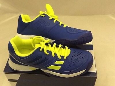 NEW Babolat Kid's Pulsion All Court Tennis Shoes Blue Size: 5 (RRP £35)
