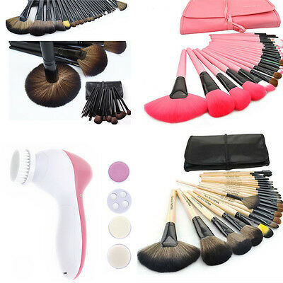 24tlg Pinsel Set Make-up Brush Schminkpinsel Set mit Elektrische Gesichtsbürste