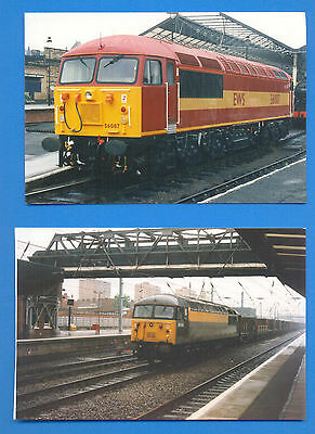 56087 AT HUDDERSFIELD & 56048 AT DONCASTER.2 10 x15cm PHOTOGRAPHS
