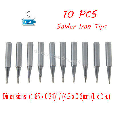 10pcs Lead-free Replace Pencil Soldering Iron Tip Tools Silver Aluminium Alloy