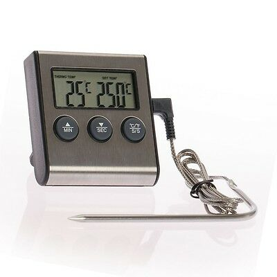 Digital Fleischthermometer Backofenthermometer Backofen Grill Thermometer
