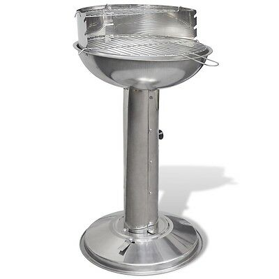 New Stainless Steel Pedestal Round Charcoal BBQ Grill Stand Barbecue Outdoor