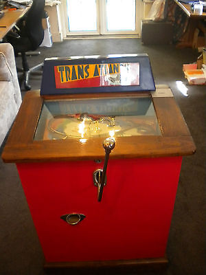 Vintage And Very Rare Trans Atlantic Steer-A-Coin Machine