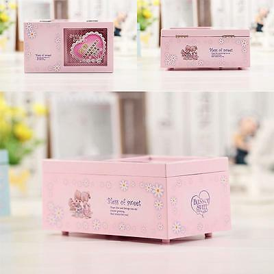 Music Musical Jewellery Box Rectangle with Romantic Ballerina Kid's Good Gift CZ
