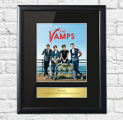 The Vamps Signed Mounted Photo Display FRAME