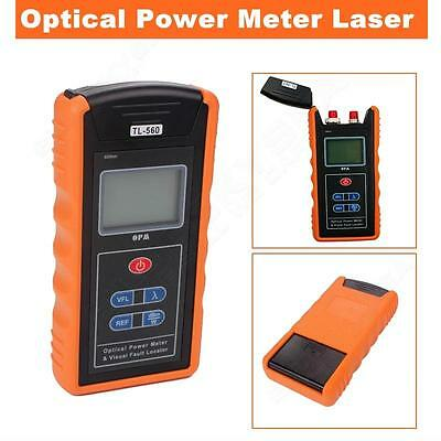Fiber Optical Power Meter and -70~+10 dBm 10mW Visual Fault Locator Cable Tester