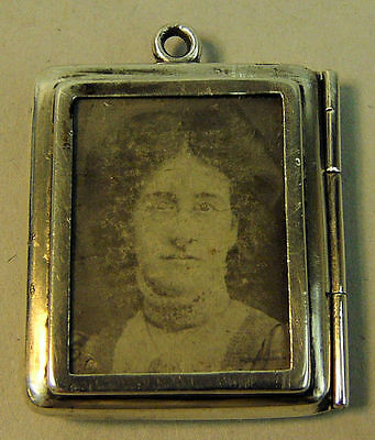 Unusual Antique Silver Stamp Case With Photo Frame Chester 1903
