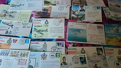 r.af.collection of  20 firstday covers signed