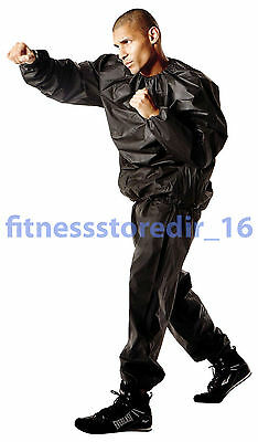 Everlast Black Deluxe EVA Sauna Suit - Boxing Training - Fitness - Size: XL/XXL