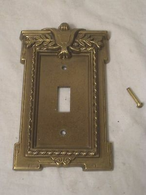 ornate vintage metal light switch plate switchplate cover heavy cast antique