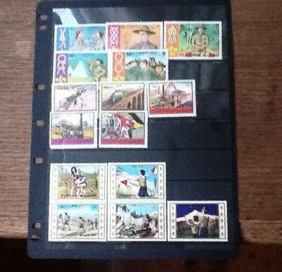 Fujeira stamps Scouts . Olympics.Trains Lots Of Stamps