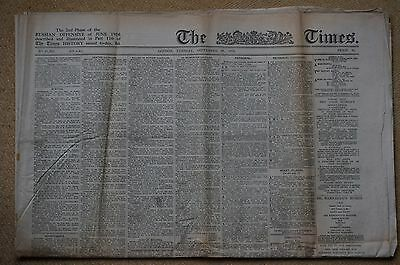 THE TIMES, London Tue. September 26, 1916,