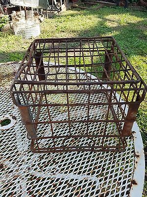 Rusty  Borden's steel wire Milk Crate -1978 - carrier - storage
