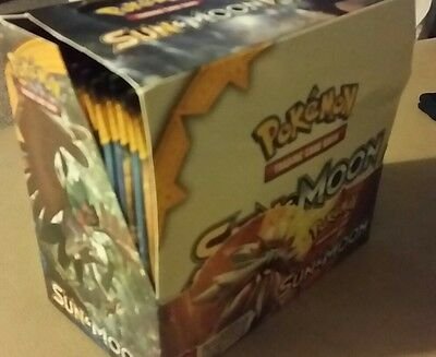 pokemon sun and moon booster box x36 packs mapped