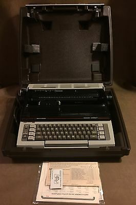NICE - Vtg Smith Corona Ultrasonic Portable Electric Typewriter ***Needs Handle*