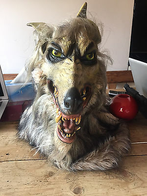 Adult Wolf Scary Dog Mask Latex Halloween