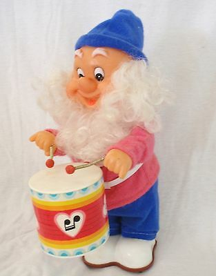 VINTAGE RETRO 30cm DWARF DRUMMING MUSICAL TOY XMAS CHRISTMAS MUSIC - NOT/WORK