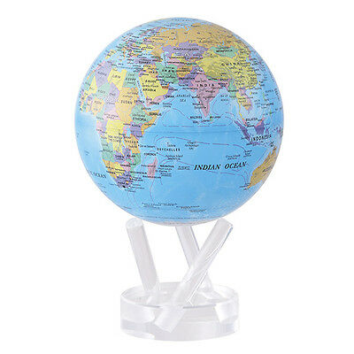 "Mova Globe Blue Political Map 6"" 15Cm"