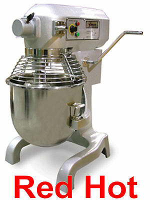 Omcan 17835 1.5 Hp 20 Qt Commercial Dough Food Mixer With Timer Gear Driven