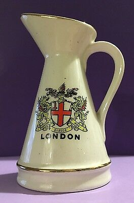 Wade Crested China Jug With City of London Crest