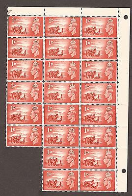 1948 Channel Islands George Vi Stamps 1D Sheet Of 22 Mnh