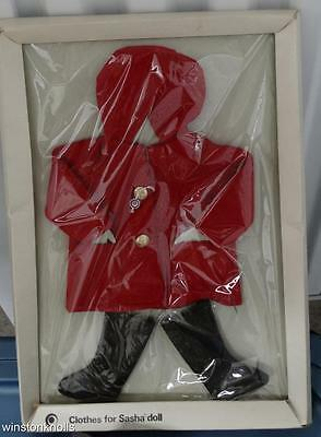 Vintage Sasha Complete Duffle Red Felt Coat Black Boots 802 Outfit