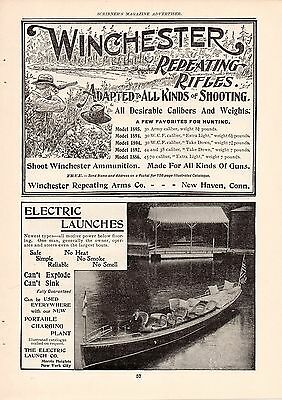 6 Winchester Rifle Ads-1888,1899,1902