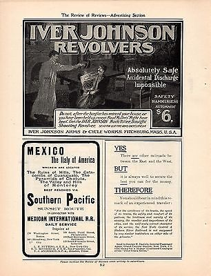 9 Iver Johnson Revolver Ads-1901,1904,1905