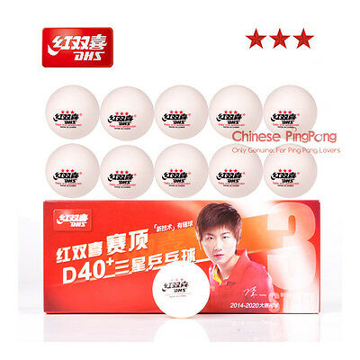 Bonus Pack: 20x DHS Newest 3-Star D40+ Table Tennis Ball Plastic Ping Pong Ball
