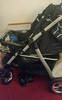 SALE Baby Pram Stroller Pushchair + Car seat Carrycot Buggy 3in1 Travel system