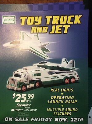 Hess Toy Trucks Advertising Signs Race Car And Toy Truck And Jet Lot Of 7