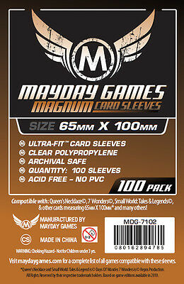 100 Pcs Mayday Card Game Sleeve for 65*100mm Board Game 7 Wonders 7102
