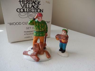 Department 56 - Wood Cutter and Son - Set of 2 #5986-2