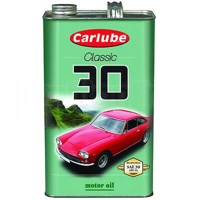 Carlube Classic 30 SAE 30 Motor Mineral 4 Stroke Engine Oil No Additives 4.55L