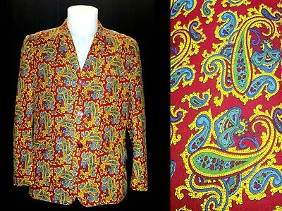 "Vintage 1960's Paisley Jacket 38"" 40"" Chest Originally bought on Carnaby st"