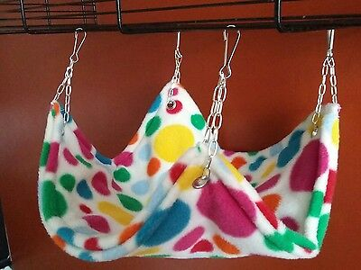 All fleece Hammock for rats, chipmunks, degu's or ferrets