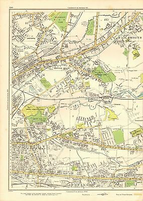 1935 Lancashire Original Map- Failsworth, Bradford, Clayton, Newton Heath