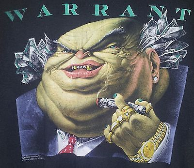 Vintage 1988 WARRANT Dirty Rotten Filthy Stinking Rich, Official Tour Concert T