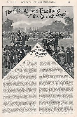 1896 Military Print :article, Traditions Of British Army, The Grenadier Guards